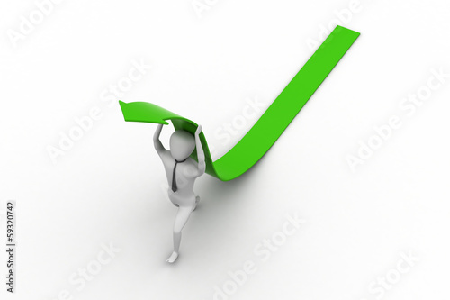3d man carrying arrow on head