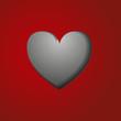 вырезанное сердце на красном фоне