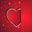hearts shape romantic greeting card