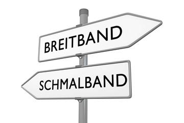 Breitband vs Schmalspur / Internetausbau