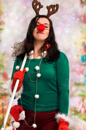 Woman ready for Christmas