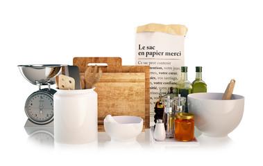 Küchen utensilien freigestellt - kitchen accessories isolated