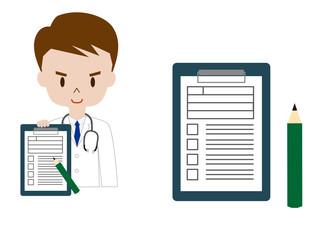 医者と問診票