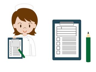 看護士と問診票