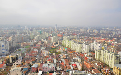 Urban view of Bucharest city