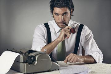 Portrait of an handsome journalist