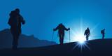 Fototapety Alpiniste Cordee