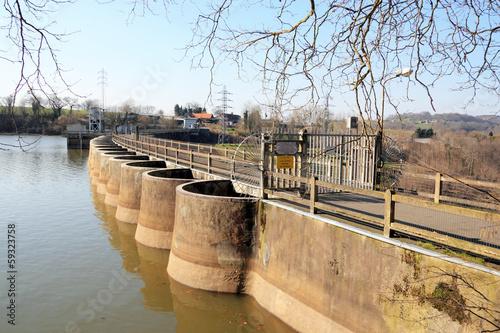 Foto op Canvas Dam Barrage de Vezins Normandie