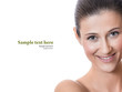 Happy smile woman with beautiful teeth isolated