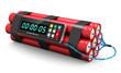 Leinwanddruck Bild - Time bomb