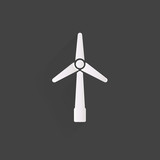 wind turbine icon, eco concept