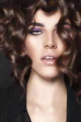 Fashion Beauty Girl. Gorgeous Woman Portrait.