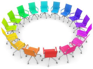 Regenbogen Stühle