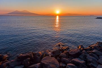 sunset vesuvio
