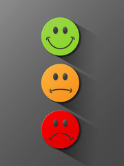 TRAFFIC LIGHTS - SURVEY Buttons (green orange red satisfaction)