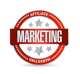 affiliate marketing seal illustration design