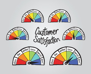 Customer satisfaction illustrations