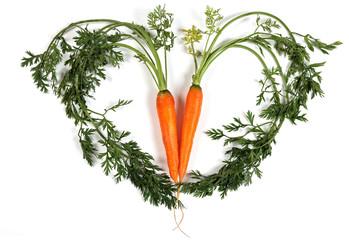 Herz aus Karotten