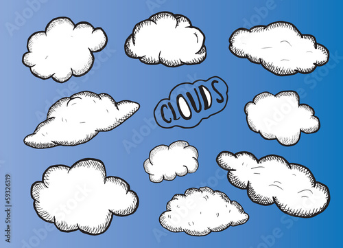 Clouds illustrations