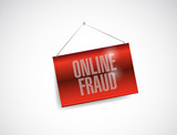 online fraud hanging banner illustration