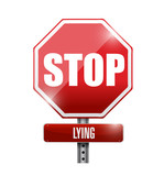 stop lying illustration design over