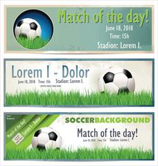 Soccer banner, set