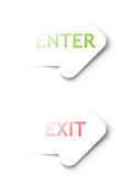 Enter, Exit arrows