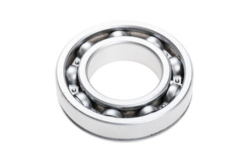 metal chrome bearing on white