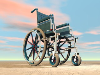 Wheelchair - 3D render