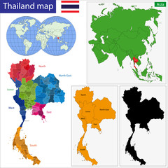 Map of Kingdom of Thailand