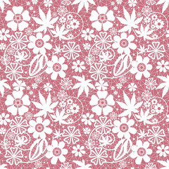 White seamless lace pattern