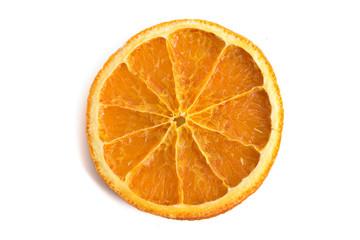 Einzelne Orangenscheibe