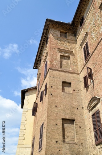 Siena historic architecture