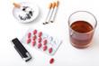 Alcohol cigarettes pills