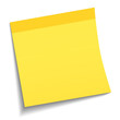 Light yellow sticky note on white background