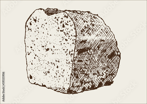 Brot Brotkanten Zeichnung Illustration