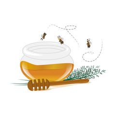 Honey Icons Set - Isolated On White Background