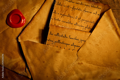 Ancient envelopes and letters
