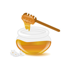 Honey Icons Set - Isolated On White Background