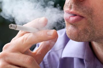 Breathing smoke out