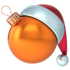 Christmas ball Happy New Year bauble decoration orange ornament