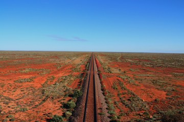 Bahnstrecke im Outback