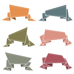 Banners origami colores vintage