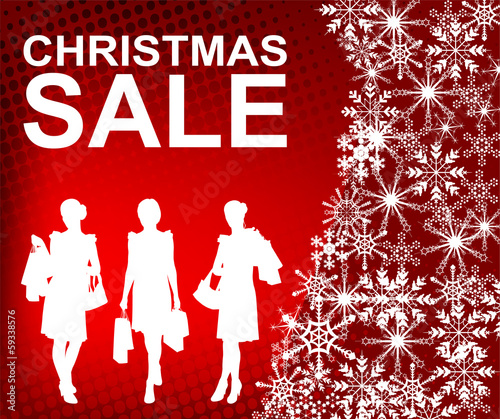 christmas sale background - vector