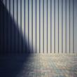 Blank metal wall