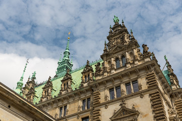 Rathaus (City Hall) in Hamburg, Germany
