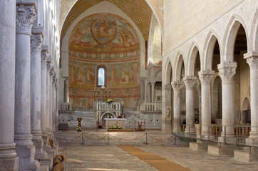 Interior of the Basilica of Aquileia, Italy