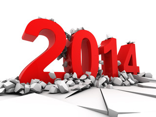 Concept of new year 2014