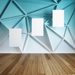 Empty frames in abstract interior room