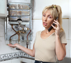 housewife calls in workshop on repair of gas water heaters..